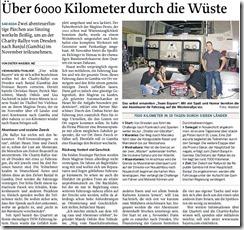 Zeitungsbericht vom 19 September 2009 Mittelbayrische