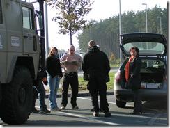 Ersatzteilübergabe und Brotzeit auf dem Weg nach Hohberg 02